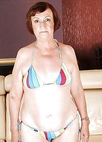 Fatty granny bikini