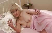 Grey haired pussy Granny Torrie changing sheets