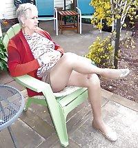 Ballet flats on a good hosed granny