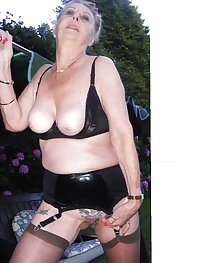 HOT GRANNY LYNDSEY PVC OUTDOORS PART 2