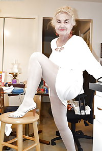Gran granny mature pantyhose tights 6