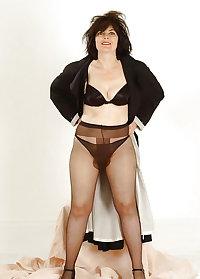 Gran granny mature pantyhose tights 6